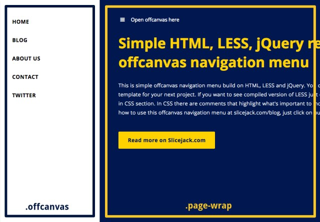 How to create a responsive offcanvas navigation menu - Slicejack