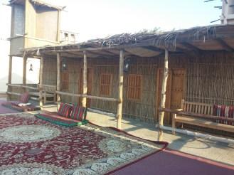 Vintage huts 'barastis' at Dubai Heritage Village