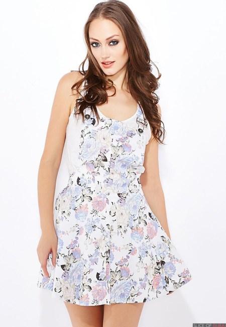 Printed Dungaree Dress