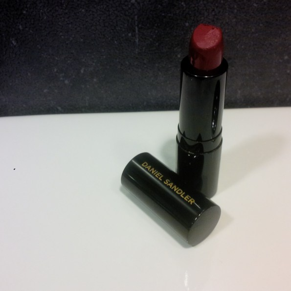 "Daniel Sandler's ""luxury matte lipstick- in the shade Casablanca has been Marwas favorite bold lip color"