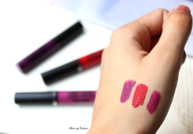 Ofra Liquid Lipsticks swatch