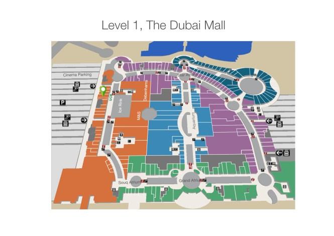 The Dubai Mall Benetton store - Level 1 map