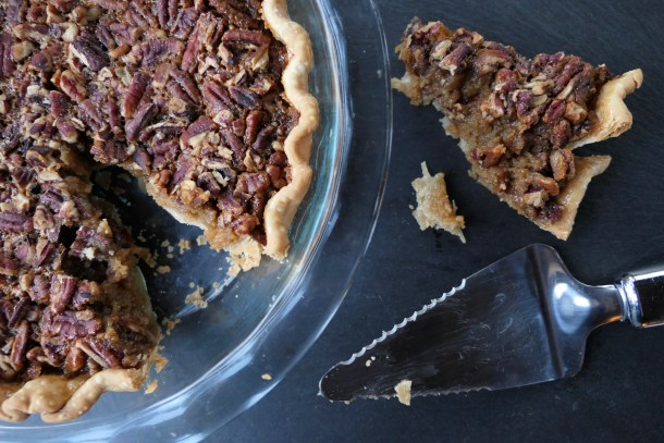 Pumpkin Pecan Pie - Slice of Honey Blog