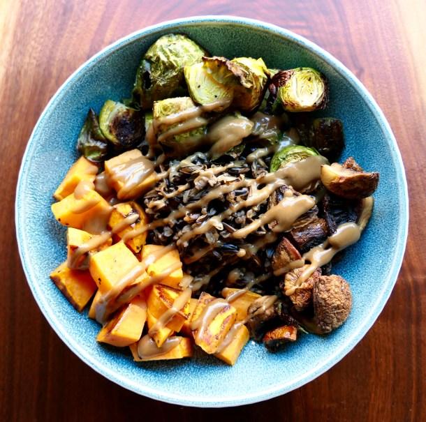Wild Rice Bowl With Tahini Sauce - Slice of Honey Blog