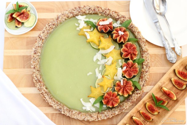 Coconut Lime Vegan Tart