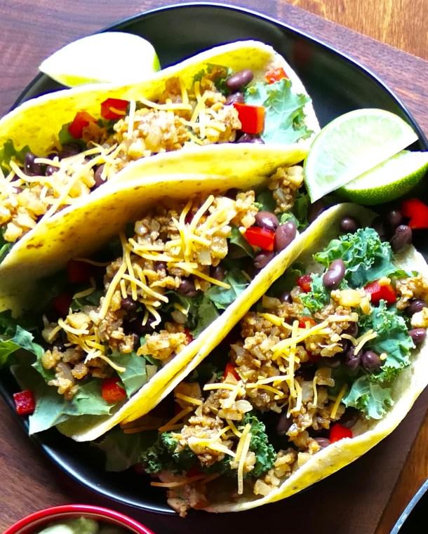 Cauliflower Tacos - Slice Of Honey Blog
