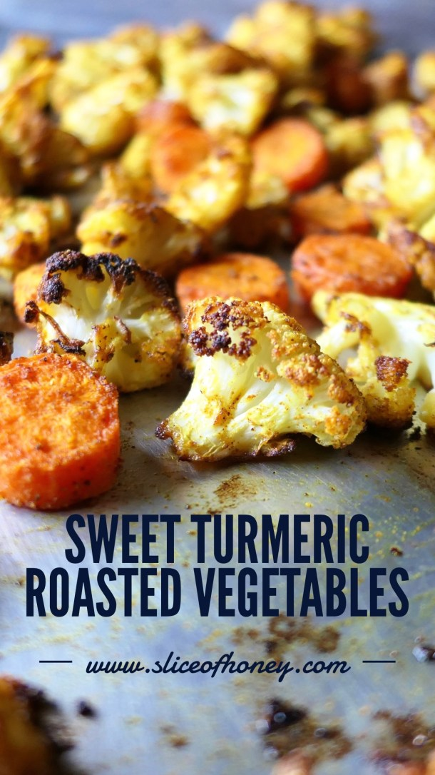 Sweet Turmeric Roasted Vegetables - Slice Of Honey Blog