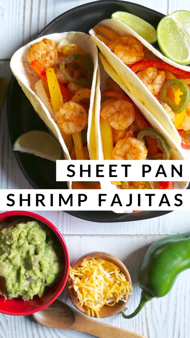 Sheet Pan Shrimp Fajitas - Slice Of Honey Blog