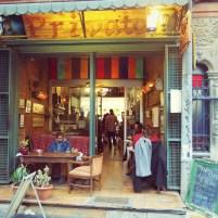 the entrance of Café Privato