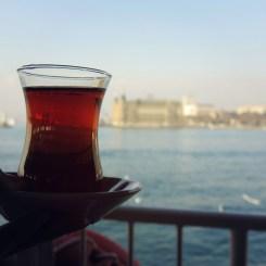 Turkish tea on the ferry