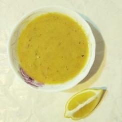 Turkish lentil soup (mercimek çorbası)