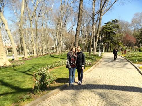 My sister and I in Gülhane Parkı