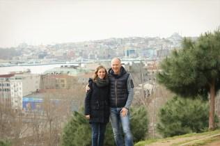 My Dad and I in Cihangir Parkı