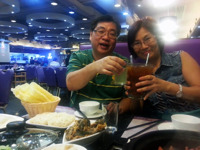 My fave aunt and uncle. (Also the only aunt and uncle I know. Hard to believe coming from a Chinese family, but it's true!)