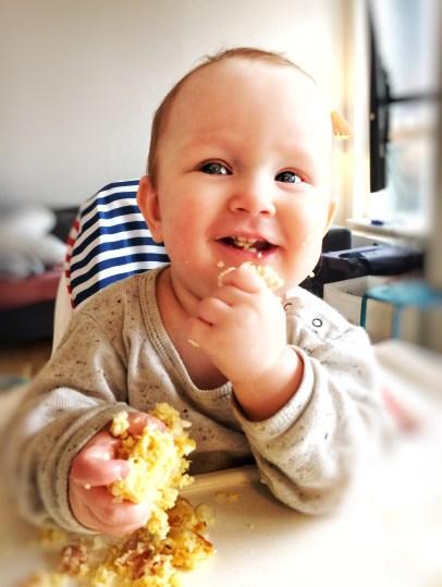 Blomkål Muffins, dejlige for baby, gode til madpakken, 3 ingredienser; blomkål, æg og cheddar.