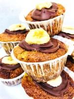Banan Chokolade Muffins / lækre / nemme / svampede / luftige