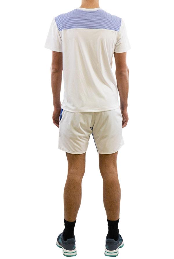 Calção SMASH Branco, T-shirt ACE Vertical Branca (1)