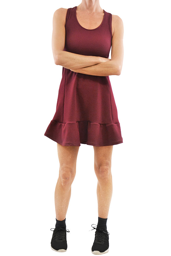 Vestido GALAXY Pique Bordeaux (4)