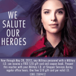 FREE $10 Gift Card and Coupon Booklet for Military!