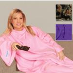 2-Pack: Snuggie Cotton Fleece Blanket with Sleeves $5.99