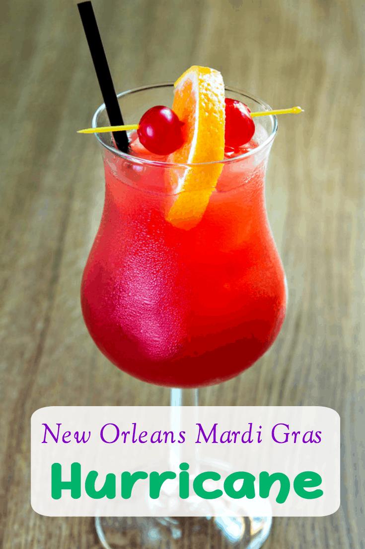 Mardi Gras New Orleans Hurricane Drink Recipe