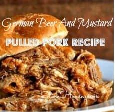 German Beer And Mustard Pulled Pork Recipe