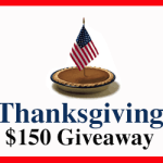 $150 Thanksgiving Gift Card Giveaway