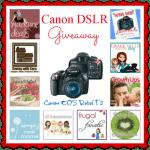 Canon DSLR Camera Giveaway #WinCanonDSLR