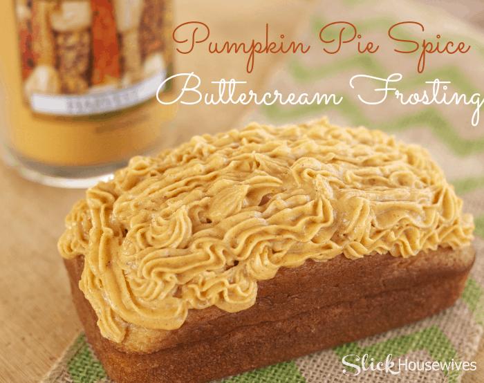 pumpkin pie spice buttercream frosting recipe