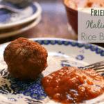 Fried Italian Rice Balls Recipe