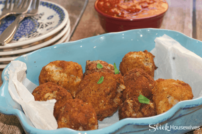 fried italian rice balls