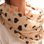 Pink Heart Chiffon Scarf only $2.46 Shipped