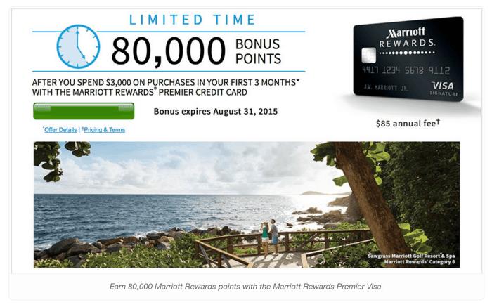 Marriott Rewards Premier 80000 points bonus