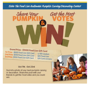 Halloween Pumpkin Carving/Decorating Contest