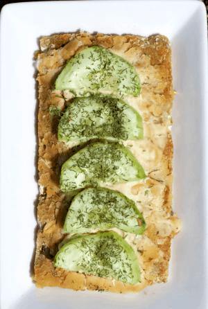 Cucumber and Hummus Wasa Crispbread
