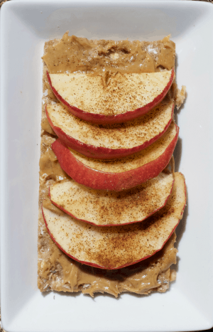 Peanut Butter and Apples using Wasa Crispbreads