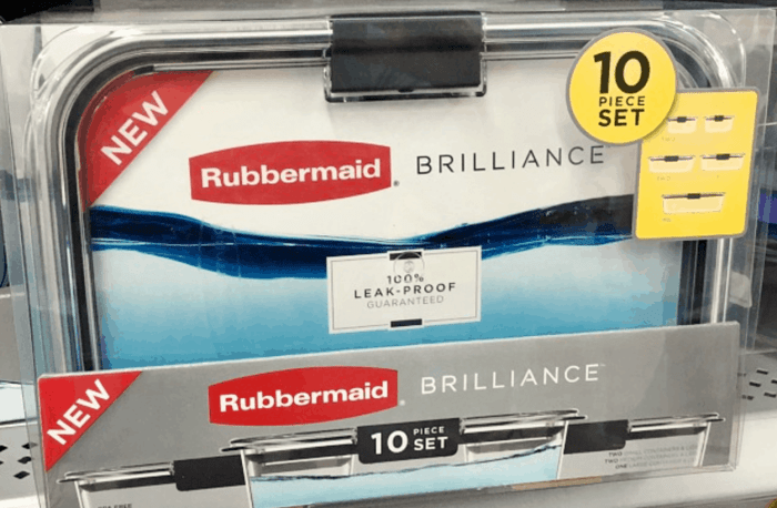 10-piece set of Rubbermaid BRILLIANCE