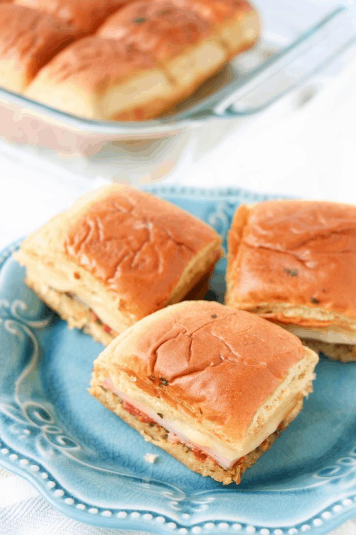 Easy Pesto Ham Sliders Burger Recipe