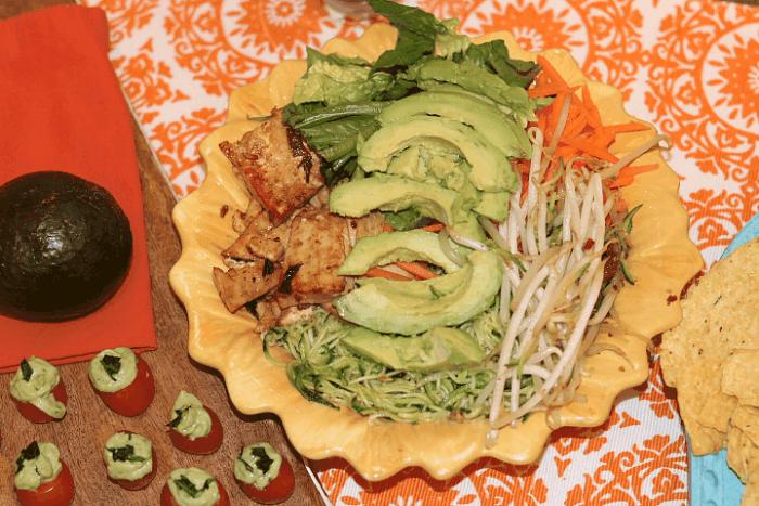 Vietnamese Avocado Zoodle Salad Bowl Recipe