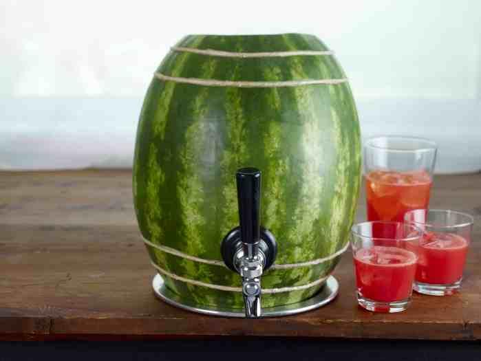 Watermelon Keg Carving