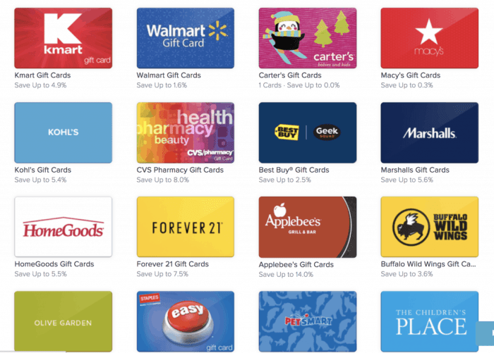 Gift Card Discounts