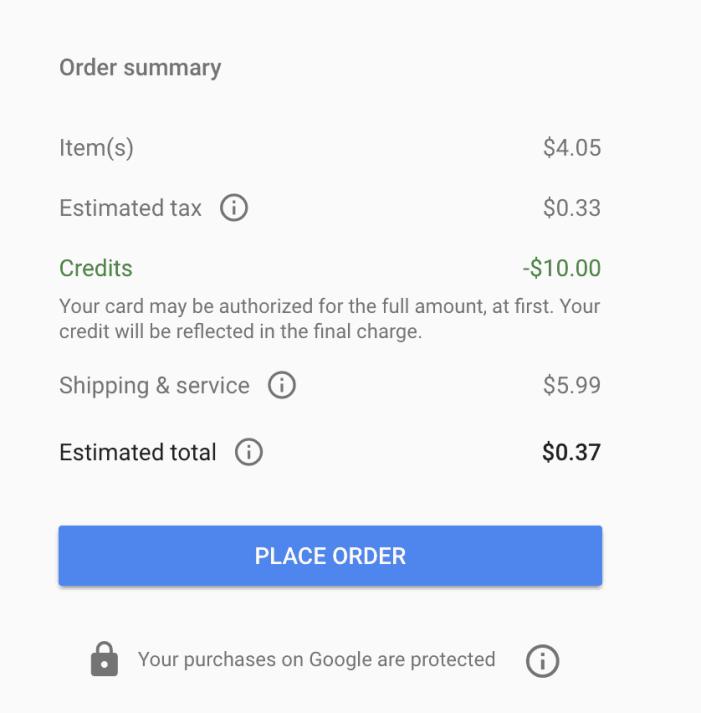 Free $10 Credit to Use at Google Express