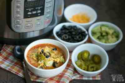 Instant Pot Low Carb Taco Soup with Cream Cheese Recipe