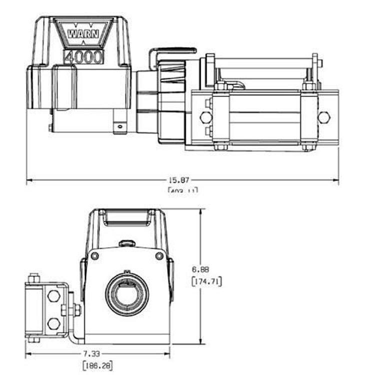 Warn 4000 DC Powered Utility 4000lb Winch