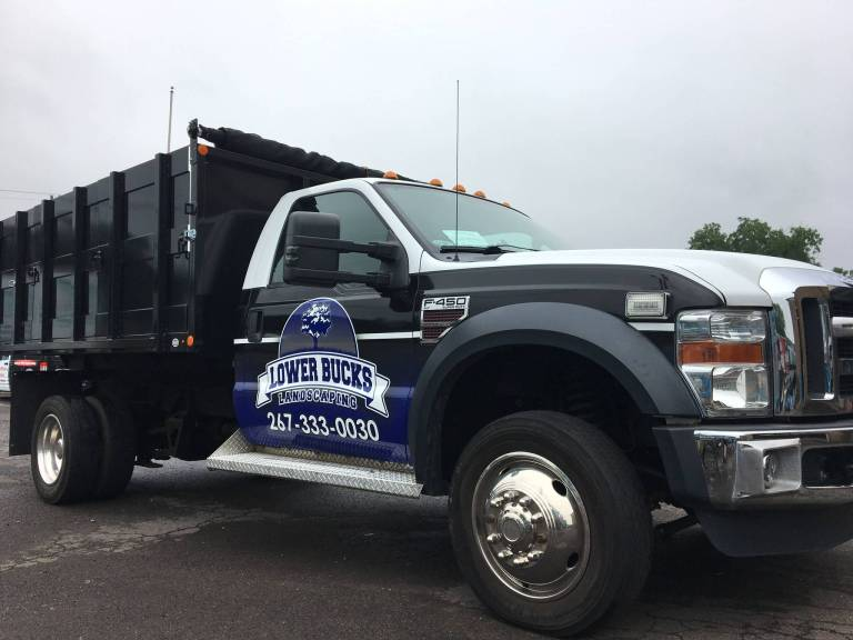 Landscaping truck graphics