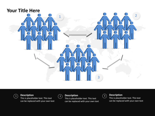 stage directions diagram person block visio template powerpoint slide multidirectional cycle people 3 steps p6 10