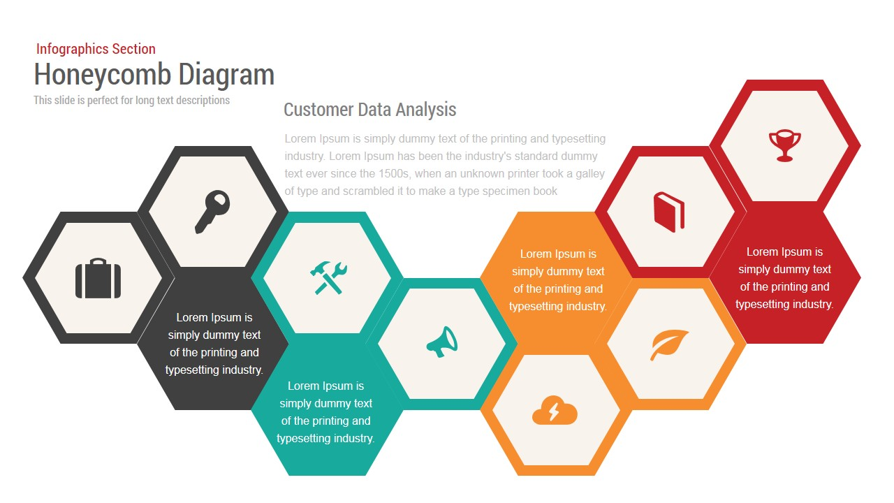 hight resolution of honeycomb diagram infographics powerpoint template and keynote slide