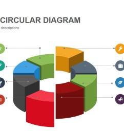 3d shapes circular diagram powerpoint keynote template [ 1280 x 720 Pixel ]
