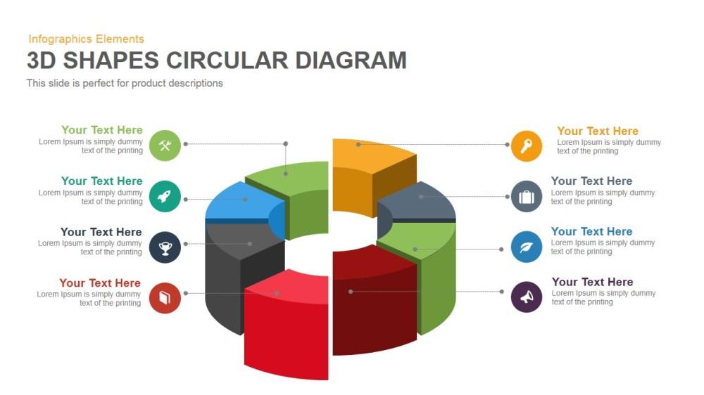 medium resolution of 3d shapes circular diagram powerpoint keynote template