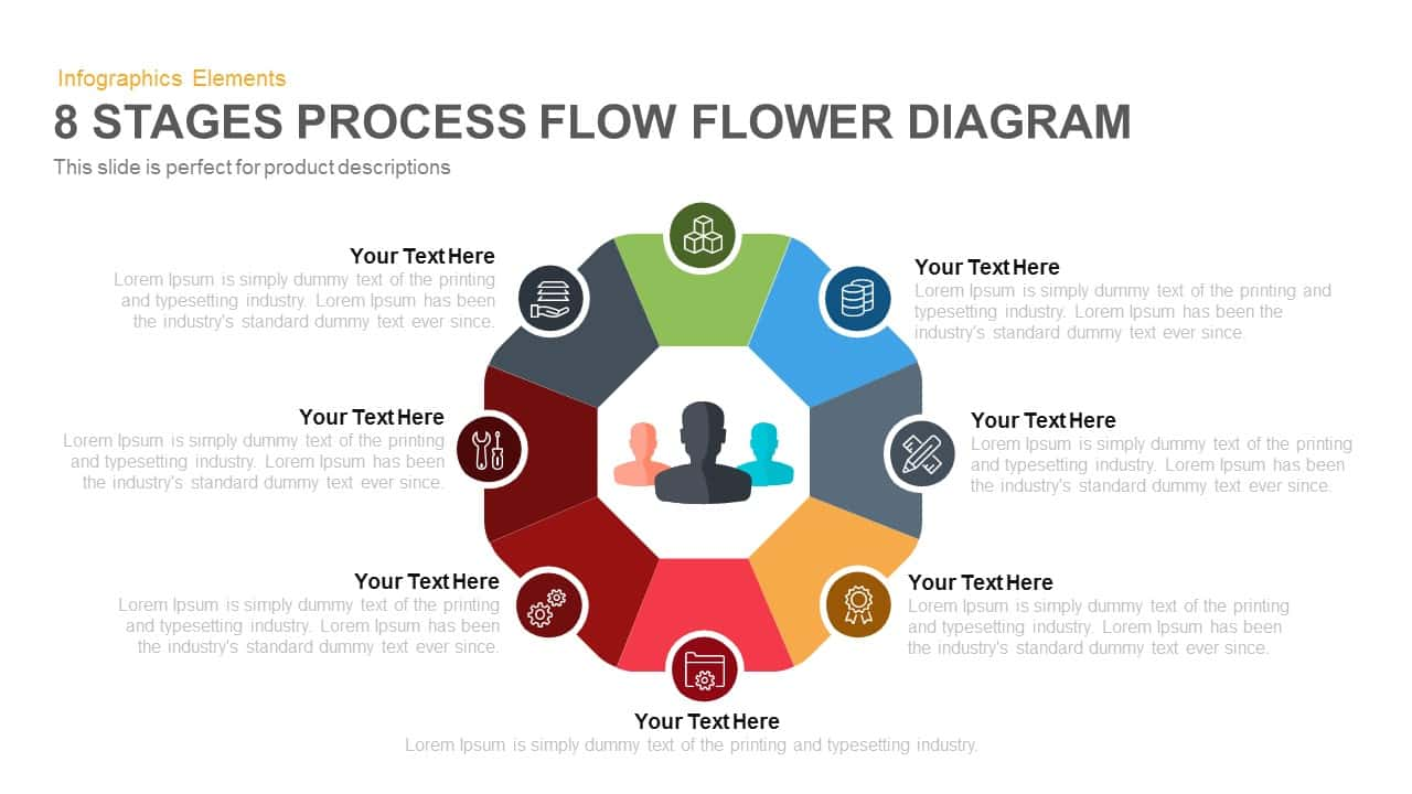 hight resolution of 8 stages flower process flow diagram powerpoint template